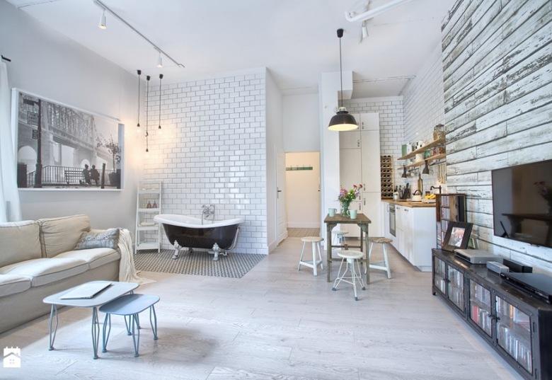 Wanna w salonie czyli... apartament w stylu skandynawskim?!