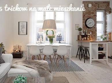 5 praktycznych trików do zastosowania w małym mieszkaniu - inspiracji nigdy dość ;)