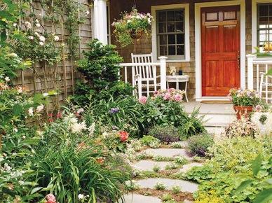 Ogród kwiatowy przed domem (15214)