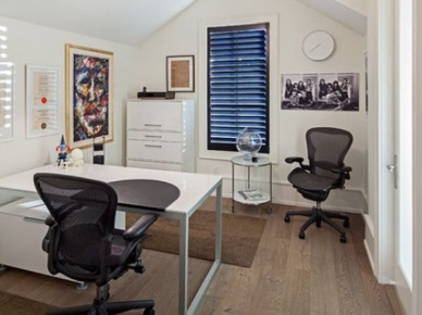 pokoje biurowe, kąciki biurowe, czyli jak znaleźć miejsce na biurko pod skosami ścian lub dachu - to pomysły na aranżacje pokoju z biurkiem, miejsca w domu do...