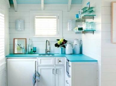 Aranżacja bardzo małej kuchni na poddaszu (49846)