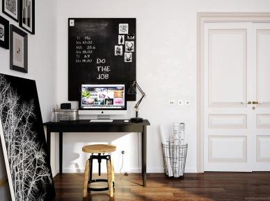 Domowy gabinet w skandynawskim stylu (47838)