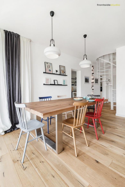 Aranżacja polskiego domu jednorodzinnego w skandynawskim stylu z ciekawymi dodatkami i pięknym drewnem