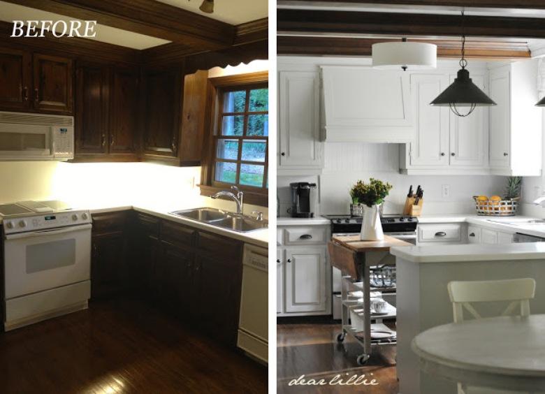 Jedna z ciekawszych metamorfoz, czyli rozjaśniona blaskiem, bielą i inspirującym klimatem kuchnia before & after :)
