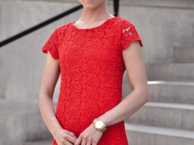 Kasia Tusk w czerwonej sukience (14585)