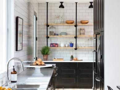 Czarne reflektorki w kuchni (50130)