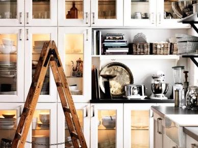 Przeszklone szafki w kuchni (17913)