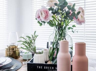 Dodatki do jadalni w pudrowym różu (50085)