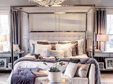 Sypialnia w stylu glamour (50113)