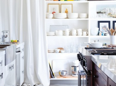 Turkusowy dywanik w kuchni (20974)