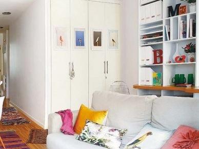 Napisy i litery na cianie w sypialni zdj cie w serwisie for Biblioteczka w salonie