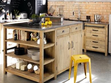 drewniana kuchnia z czarn cian i cian zdj cie w serwisie 21709. Black Bedroom Furniture Sets. Home Design Ideas