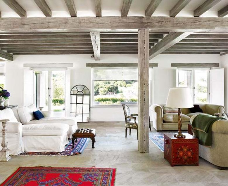Szare belki na suficie w salonie tag zdj cia lovingit - Poutres peintes avant apres ...