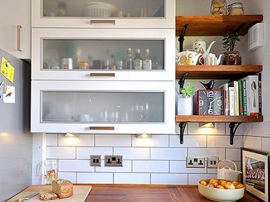Tag Drewniane Półki W Białej Kuchni