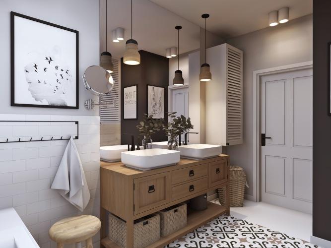 Projekt łazienki na poddaszu by me & my mum i  gdzie to wszystko kupić, aby sie tak urządzić?