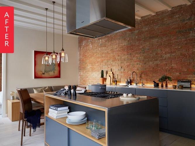Aranżacja pięknego mieszkania w czerwonej cegle z before & after kuchni :)