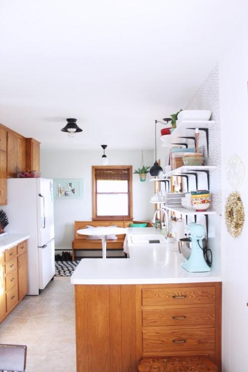 Before & after kuchni, czyli jak otwarte półki mogą dodać wnętrzu przestrzeni! :)