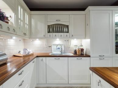 Tag Drewniany Blat Do Białej Kuchni