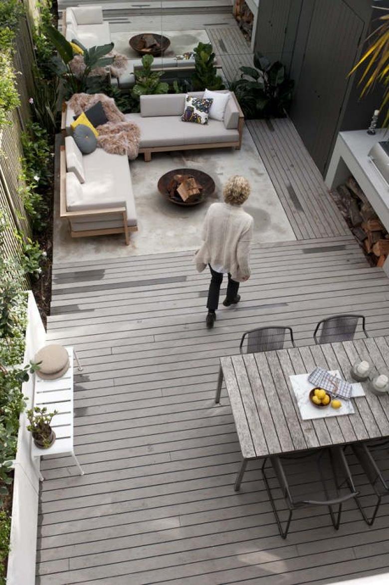 Szary taras i ogr d inspiracje for Garten lounge idee