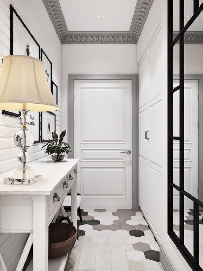 Przedpok j wn trza inspiracje - Deco couloir noir et blanc ...